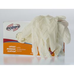 Poppy Latex 100 Τμχ με Πούδρα Λευκά L