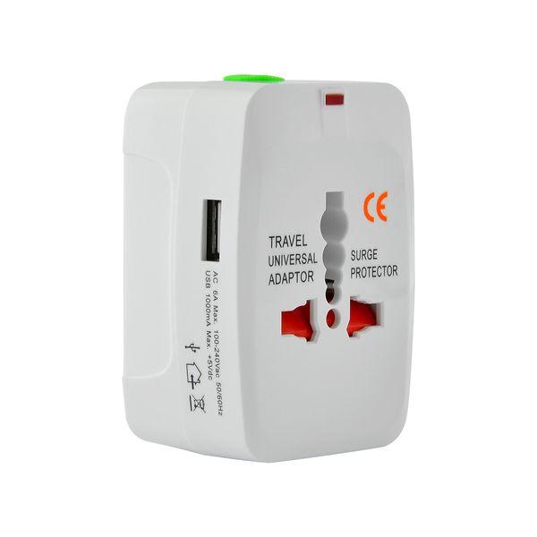 Lamtech Universal Travel Adapter με USB & 4 Plugs