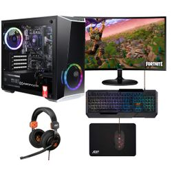 """Infinity Gear Core R2 PC & Samsung Curved Monitor 24"""" & ADX Mouse & Keyboard & Headset & Mousepad"""