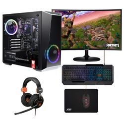 """Infinity Gear Core R2 PC & Samsung Curved Monitor 27"""" & ADX Mouse & Keyboard & Headset & Mousepad"""