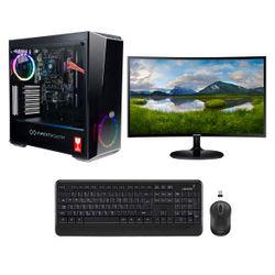 "Infinity Gear Core R2 PC & Samsung 24"" Curved Monitor & Advent Ασύρματο Πληκτρολόγιο & Ποντίκι"