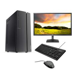 "Lenovo IdeaCentre 510A PC & LG Monitor 24"" & Advent Ενσύρματο Πληκτρολόγιο & Ποντίκι"