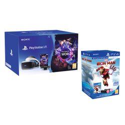 Sony PlayStation VR MK4 & Camera V2 & VR Worlds & Marvel's Iron Man VR & Playstation Move Twin Pack