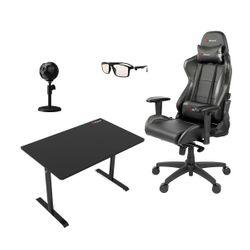 Arozzi Gaming Καρέκλα & Γραφείο & Μικρόφωνο & Γυαλιά