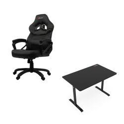 Arozzi Arena Leggero Black Gaming Γραφείο & Monza Black Gaming Καρέκλα