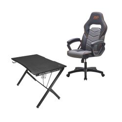 Trust GXT 711 Dominus Gaming Desk & ADX ACHFBA0119 Black/Grey Gaming Καρέκλα