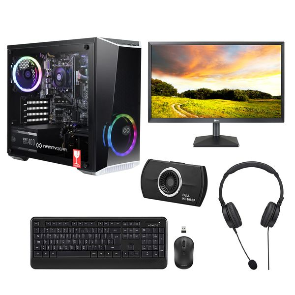 "Infinity Gear Core R2 PC & LG 22"" Monitor & Advent Webcam & Ασύρματο Πληκτρολόγιο & Ποντίκι & Ακουστικά Headset"