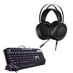 Coolermaster CH-321 USB Gaming Headset & Devastator III RGB Gaming Keyboard & Mouse