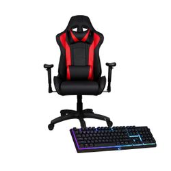 Cooler Master Caliber R1 Black/Red Gaming Καρέκλα & MK110 RGB Gaming Keyboard