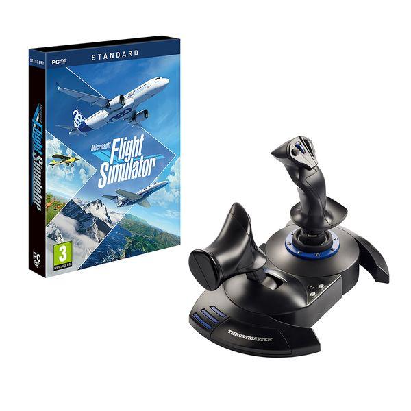 Microsoft Flight Simulator Standard Edition PC Game & ThrustMaster T.Flight Hotas 4 Joystick