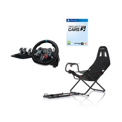Playseat Challenge Κάθισμα & Logitech G29 Racing PS4 Τιμονιέρα & Project Cars 3