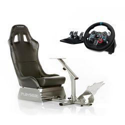 Playseat Evolution Black Κάθισμα & Logitech G29 Racing PS4 Τιμονιέρα & Ρυθμιστής Καθίσματος Seat Slider