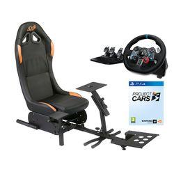 ADX Firebase A01 ARSFBA0117 Racing Κάθισμα & Logitech G29 Racing PS4 Τιμονιέρα & Project Cars 3