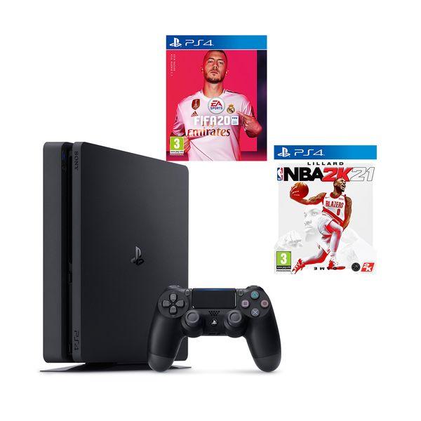 Sony  PS4 500GB & NBA 2K21 & Fifa 20