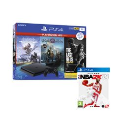 Sony  PS4 1TB με 3 PS Hits Games & NBA 2K21