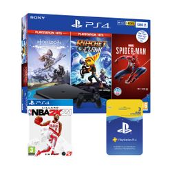 Sony  PS4 500GB & NBA 2K21 & 3 PS Hits Games & Playstation Plus 90Days Card