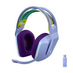 Logitech G733 Lightspeed Wireless Lightsync RGB with BLUE VO!CE Lilac