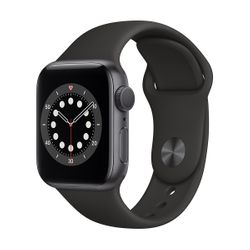 Apple Watch Series 6 40mm Space Grey Black Sportband