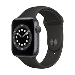 Apple Watch Series 6 44mm Space Grey Black Sportband