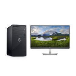 "Dell  Inspiron 3881 i3-10100/8GB/1TB PC & S2421HN 24"" IPS 75Hz Monitor"