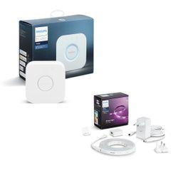 Philips Hue Lightstrip 2m Plus Base Bluetooth & Smart Home Automation Bridge