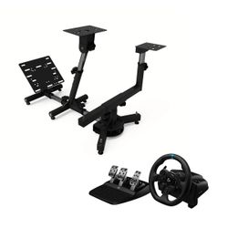 Logitech G923 PS5/PS4 Τιμονιέρα & Arozzi Velocita Black Racing Simulator Stand