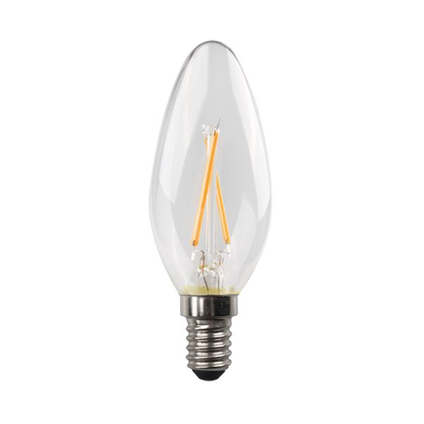 Eurolamp Led Κερί Crossed Filament 6,5W E14 6500K Blister