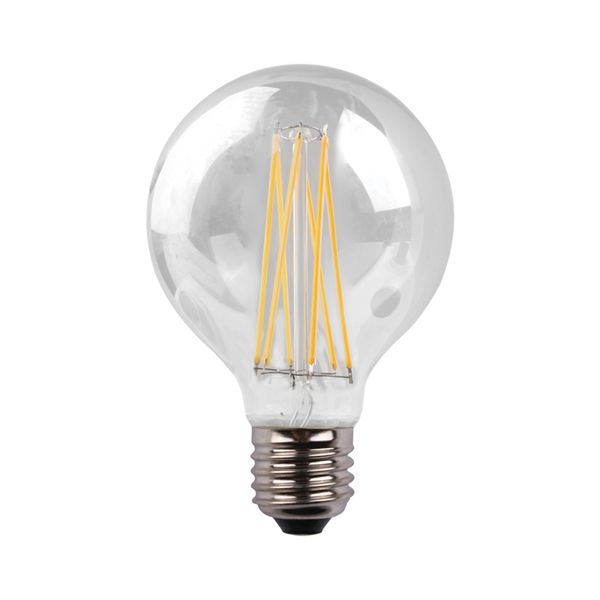 Eurolamp Led Γλόμπος Crossed Filament G95 8W Ε27 3000K