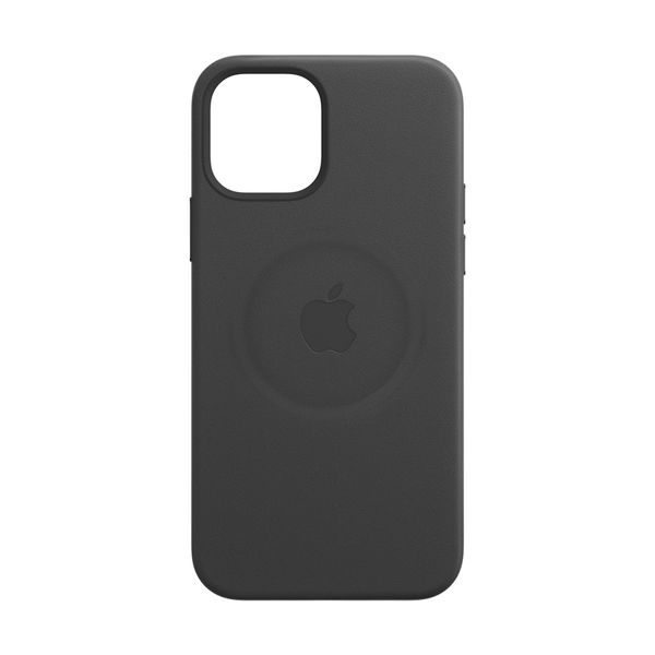 Apple iPhone 12/12 Pro Leather Case Black with MagSafe