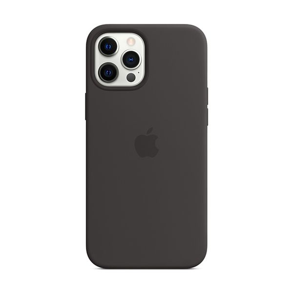 Apple iPhone 12 Pro Max Silicone Cover with MagSafe Black