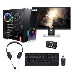 "Infinity Gear  Core 2 PC & Dell 24"" IPS 1ms Monitor & Advent HD Webcam & Wireless Keyboard/Mouse"