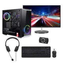 """Infinity Gear  Core 2 PC & JVC 27"""" VA Monitor & Advent HD Webcam & Headset & Wireless Keyboard/Mouse"""