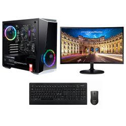 "Infinity Gear  Core 2 PC & Samsung 24"" Curved Monitor & Advent Ασύρματο Πληκτρολόγιο & Ποντίκι"