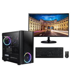 "Infinity Gear  Core 4S Rev.3 PC & Samsung 24"" Curved Monitor & Advent Ασύρματο Πληκτρολόγιο/Ποντίκι"