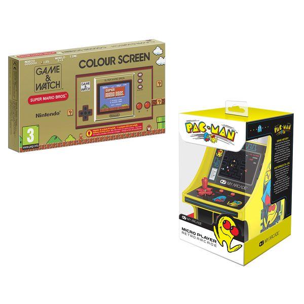 Nintendo Game & Watch: Super Mario Bros. Φορητή Κονσόλα & My Arcade Retro Pac-Man Micro Player