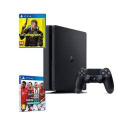 Sony PS4 500GB Slim & Cyberpunk 2077 & eFootball PES 2021 & myClub Bonus