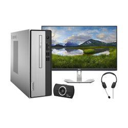 "Lenovo  IdeaCentre 3 i5-10400 PC & Dell 27"" IPS Monitor & Advent Headset & HD Web Cam"