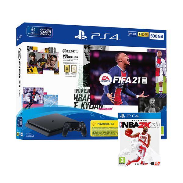 Sony  PS4 500GB & Fifa 21 & FUT Voucher & NBA 2K21