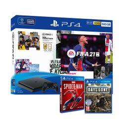 Sony PS4 500GB & Fifa 21 & FUT Voucher & Days Gone & Marvel`s Spider-Man