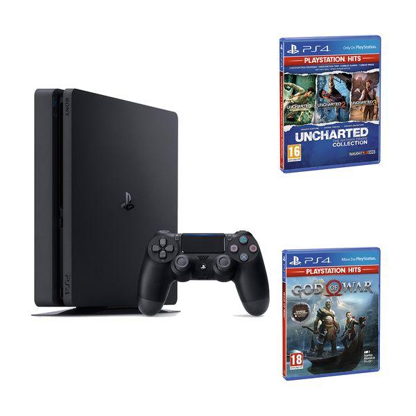 Sony  PS4 500GB Slim & Uncharted Η Συλλογή του Nathan Drake & God of War