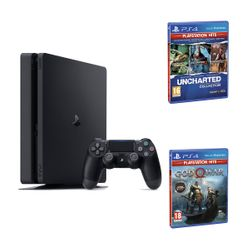 Sony PS4 500GB Slim & Uncharted Η Συλλογή του Nathan Drake & God of War