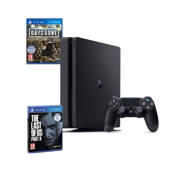 Sony  PS4 500GB Slim & Days Gone & The Last of Us Part II