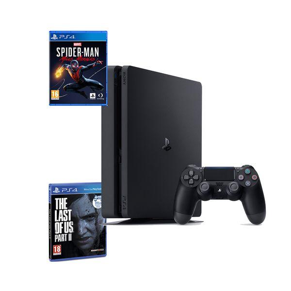 Sony  PS4 500GB Slim & The Last of Us Part II & Marvel's Spider-Man: Miles Morales