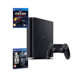 Sony PS4 500GB Slim & The Last of Us Part II & Marvel's Spider-Man: Miles Morales
