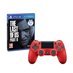 Sony Wireless Controller Dualshock 4 V2 Red & The Last of Us Part II