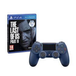 Sony Wireless Controller Dualshock 4 V2 Blue & The Last of Us Part II