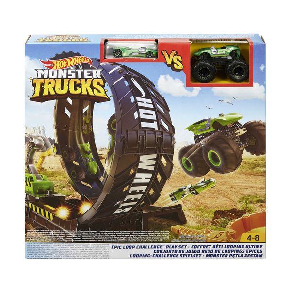 Mattel Hot Wheels Σετ Παιχνιδιού Monster Trucs – Σούπερ Λουπ GKY00