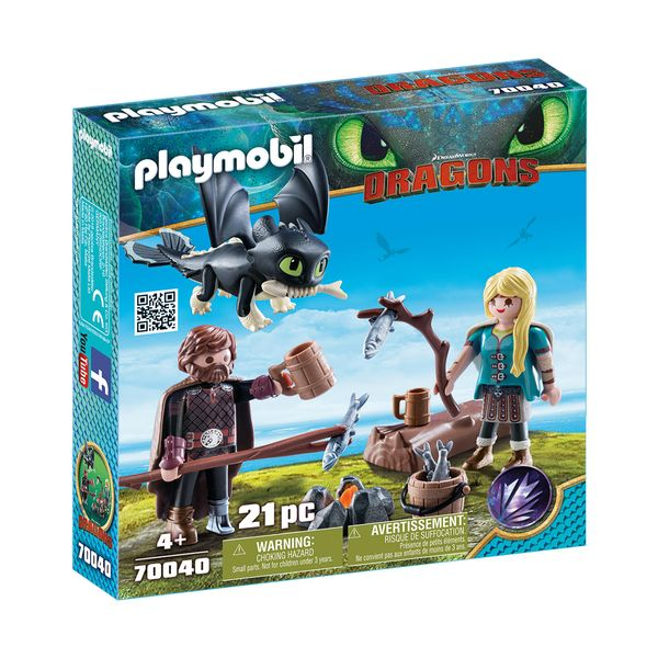 Playmobil Ο Ψαρής και η Άστριντ με Έναν Δρακούλη 70040