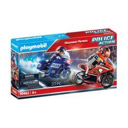 Playmobil Playmobil Αστυνομική Καταδίωξη Μηχανών 70462