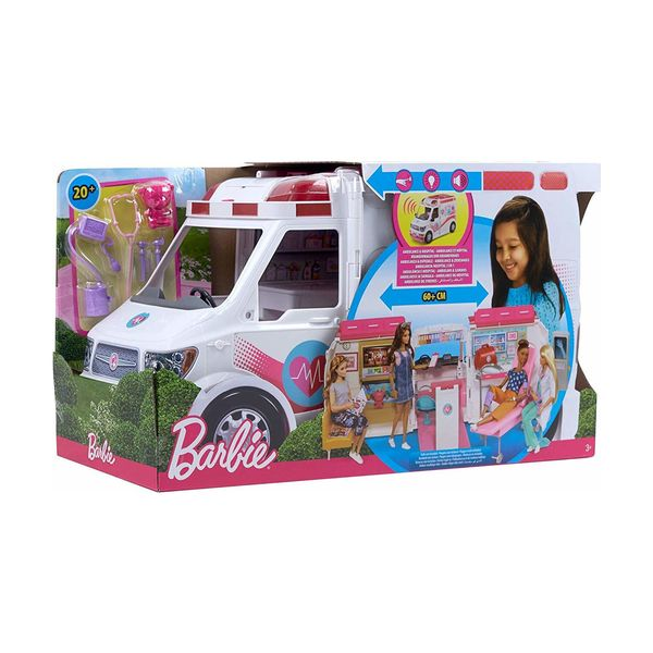 Mattel Barbie Κινητό Ιατρείο Ασθενοφόρο FRM19